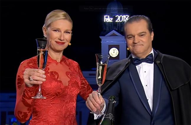Grabamos las copas de Anne Igartiburu y Ramón García para Nochevieja!